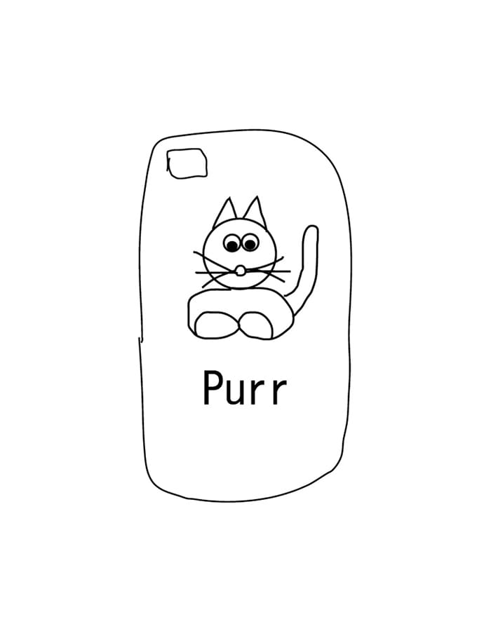 purr) himaa purr iPhone case - 유광  (재입고)