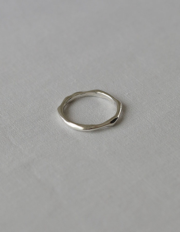 lsey) melted simple layered ring - 2차 재입고
