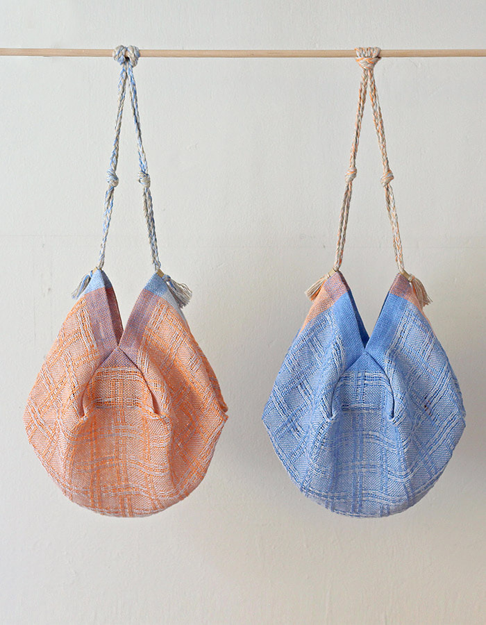 handwoventextile) linen lace bag - 2차 재입고
