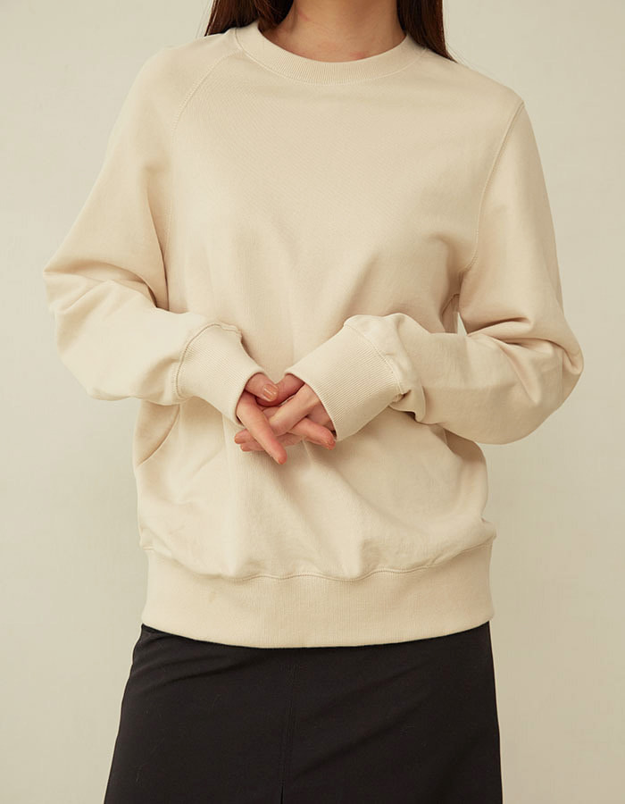 al,thing) half sweat shirt - ivory(B급)