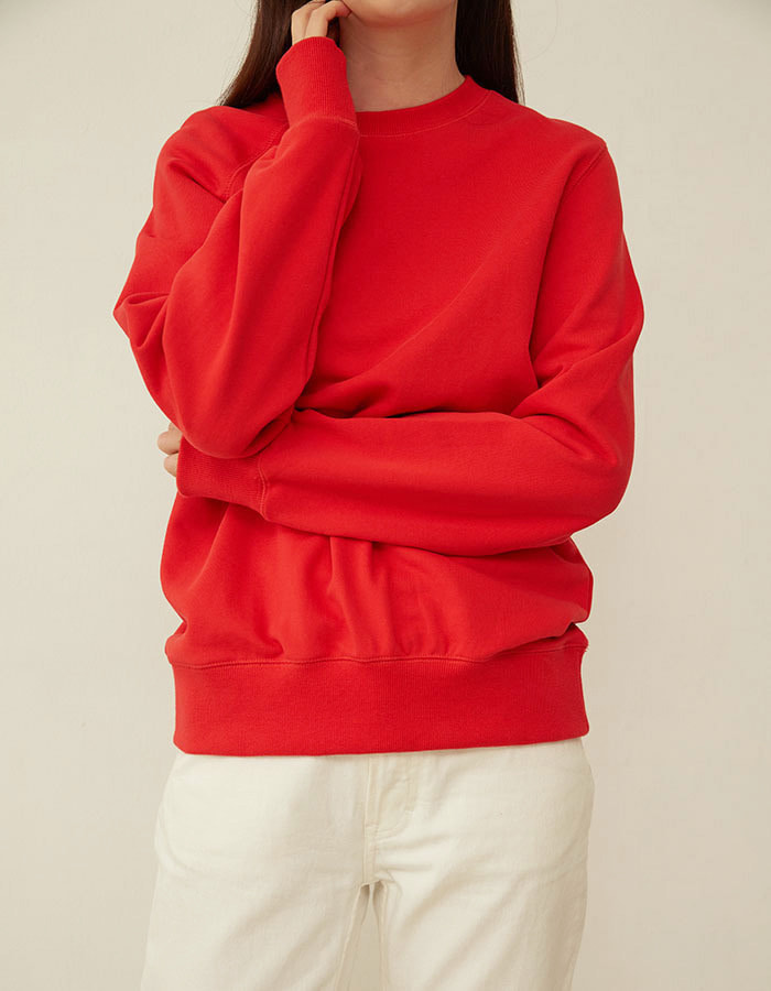 al,thing) half sweat shirt - red - 마지막 제품
