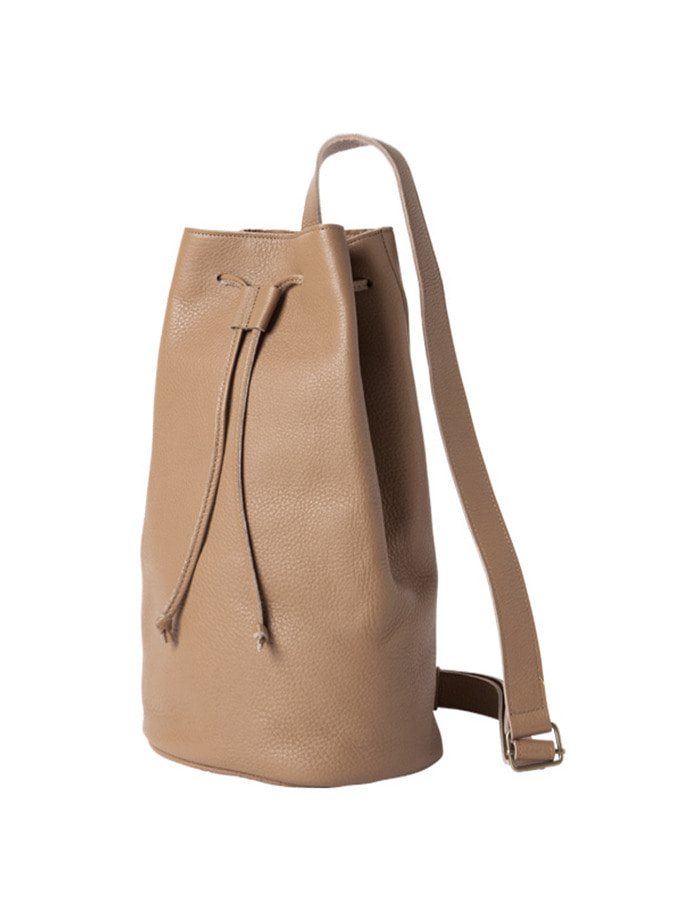 article) single bucket bag - beige