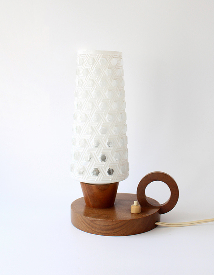 vintage) hexagon pattern lamp - From The Netherlands