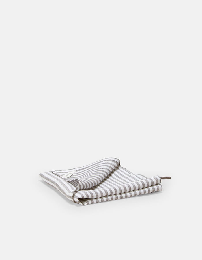 ilsangjingmul) light linen kitchen cloth 6mm stripe - 마지막 제품
