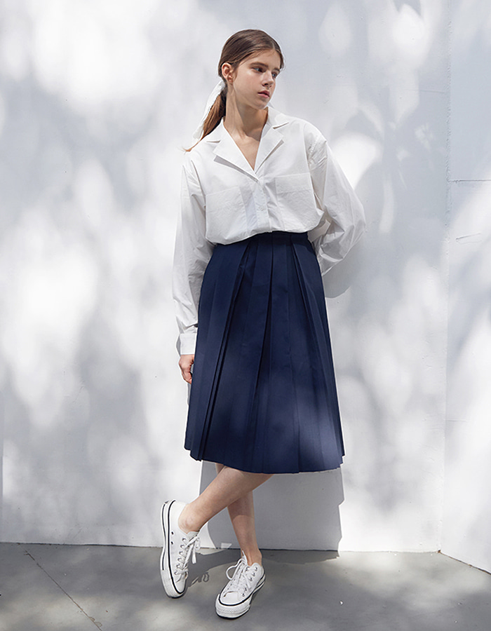 hier) pleats skirt - S, M - 마지막 수량