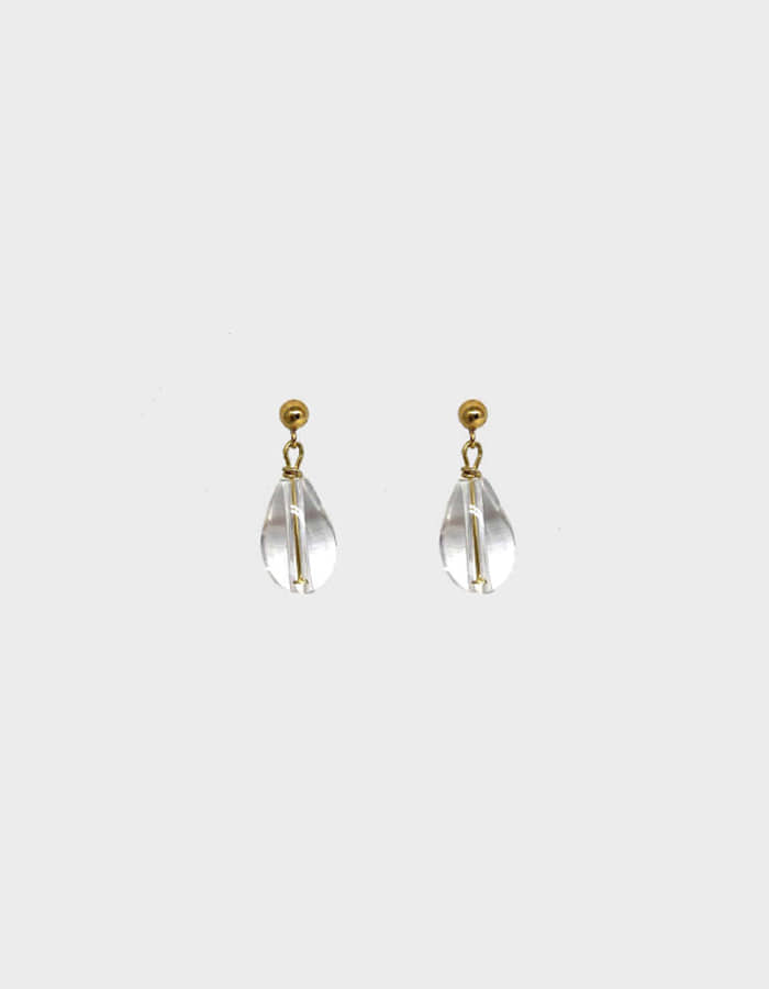 lebleu) crystal drop earring - 재입고
