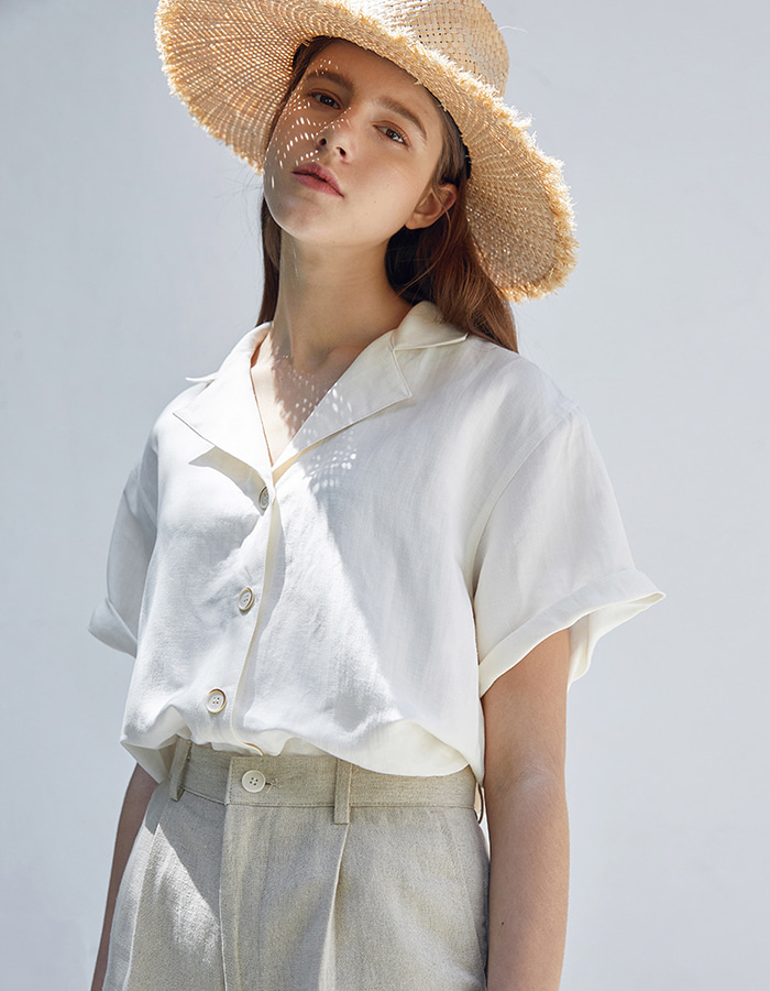 hier) linen shirts (cream)