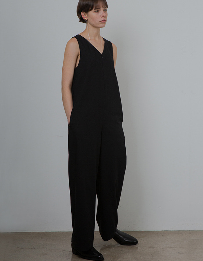 Ma Journee) MINIMAL JUMPSUIT_BLACK