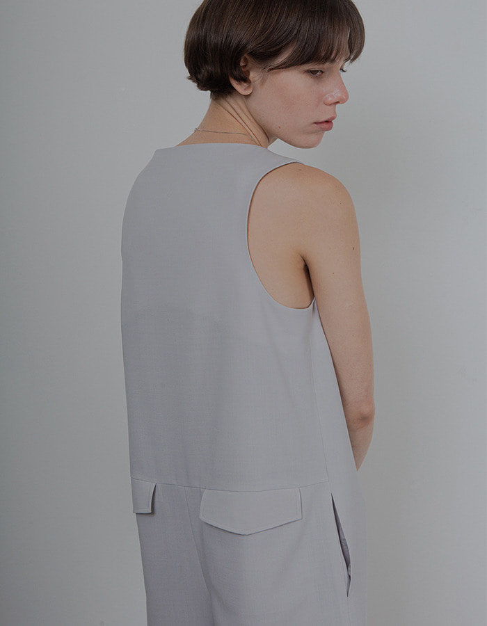 Ma Journee) MINIMAL JUMPSUIT_LIGHT GREY