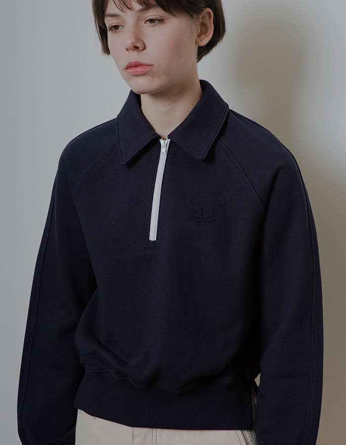 Ma Journee) HALF ZIP-UP MTM_NAVY - 5차 재입고 - 마지막 수량