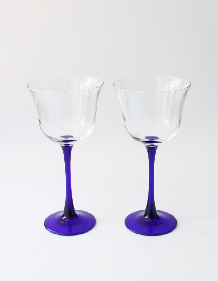 luminarc) cobalt blue wine glass - 마지막 제품