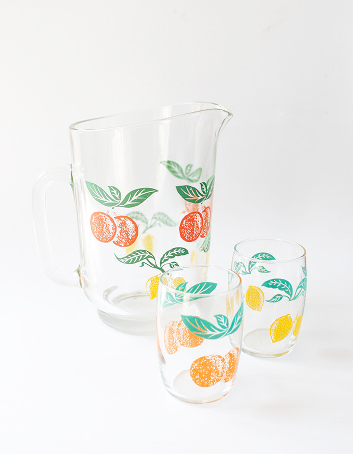 Netherlands vintage) 1970s pitcher with 6 tumblers - 마지막 제품