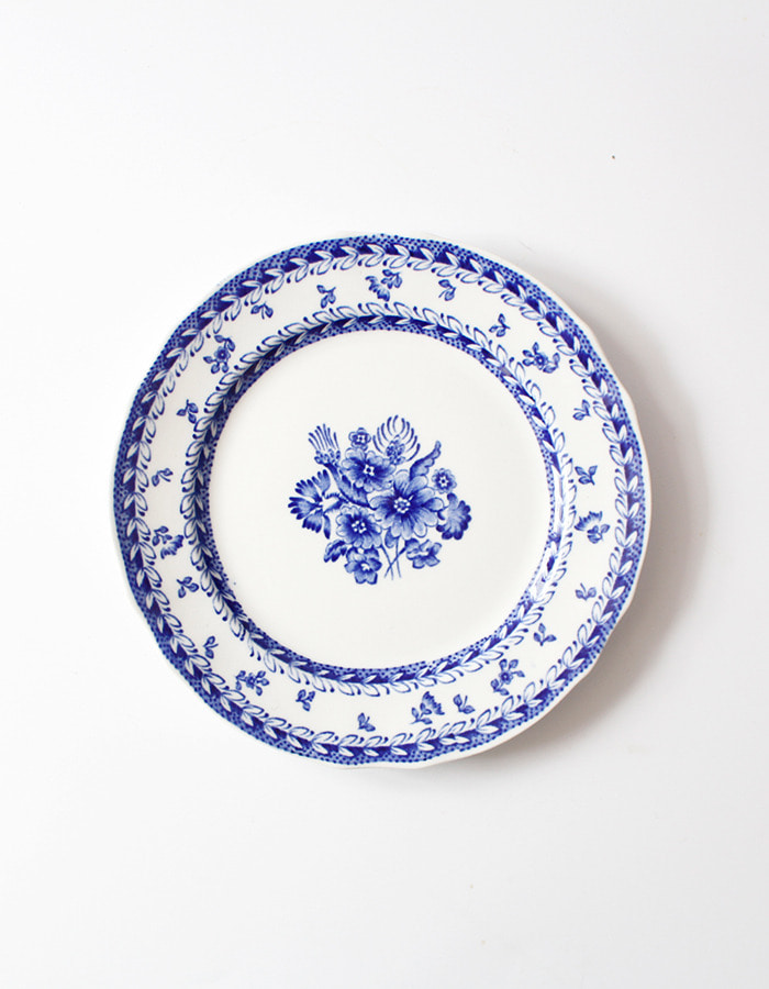 arabia finland) Flower blue plate - 마지막 제품