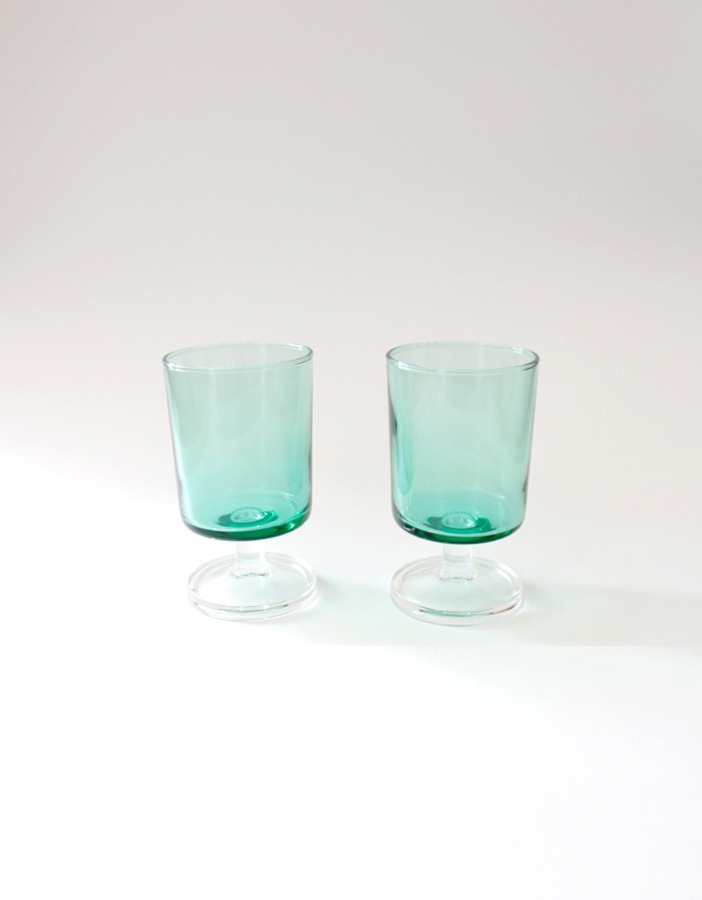 luminarc) green shot glasses
