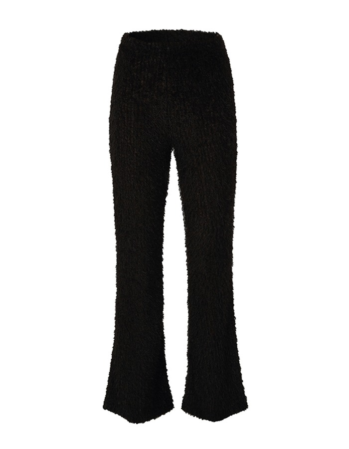 teak) BOUCLE KNIT PANTS (BLACK) - 재입고