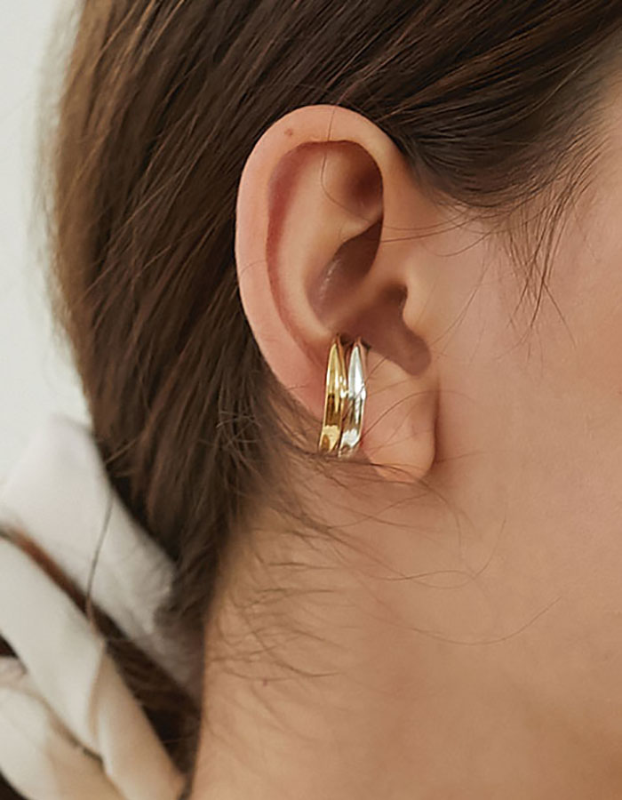 lsey) bent curve ear-cuff - 재입고