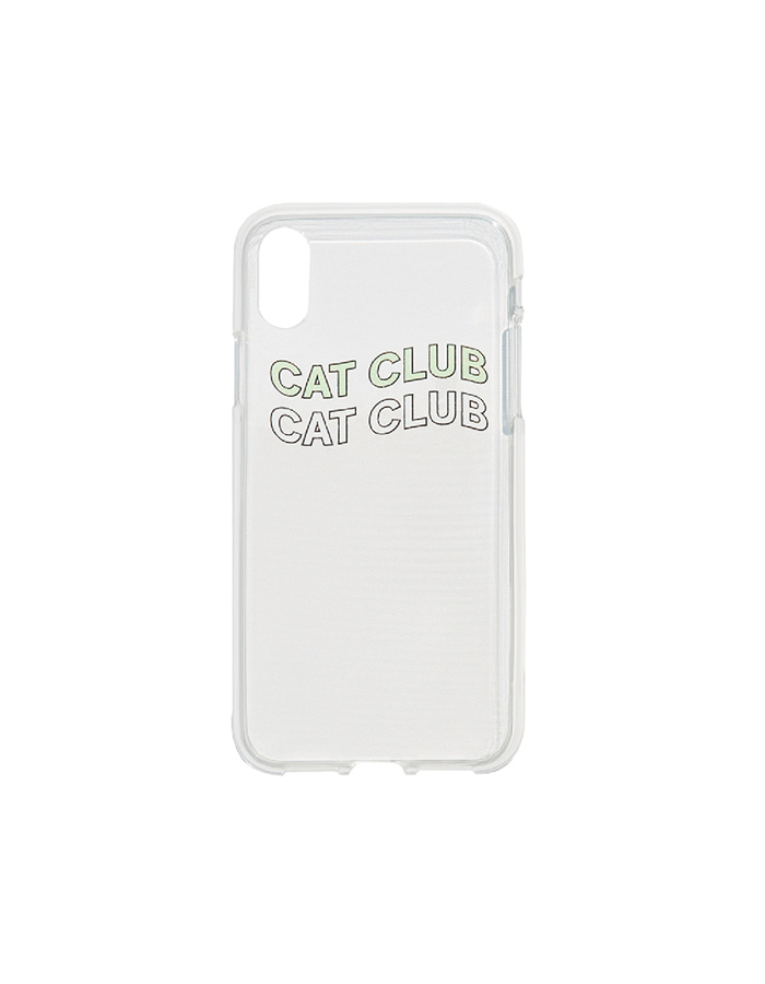purr) cat club iPhone case Mint