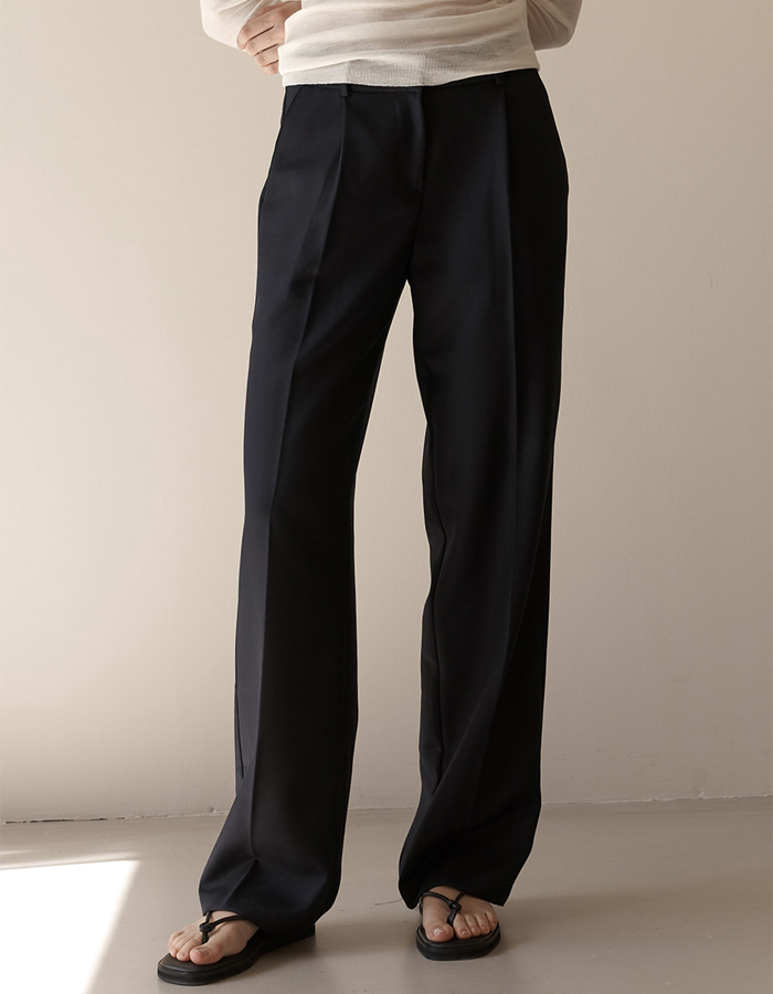 hier) Basic Wool Slacks - 2colors